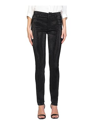 Black Orchid Gisele High-Rise Metallic Skinny Jeans