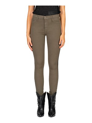 Black Orchid Gisele High-Rise Skinny Jeans w/ Foil Side Stripes