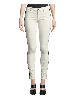Black Orchid Jude Mid-Rise Skinny Jeans w/ Tuxedo Stripes