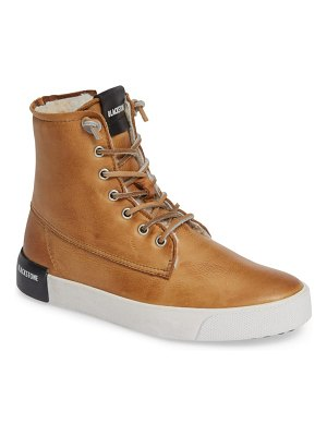Blackstone ql41 high top sneaker with genuine shearling lining