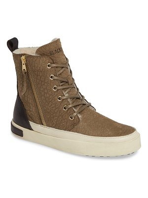 Blackstone ql43 high top sneaker with genuine shearling lining