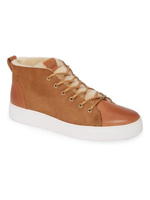 Blackstone ql48 genuine shearling lined high top sneaker