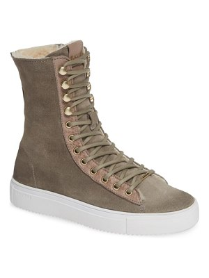 Blackstone ql50 genuine shearling lined high-top sneaker boot