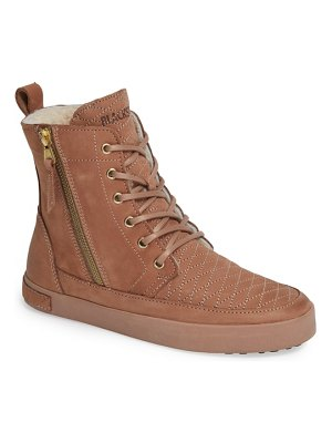Blackstone ql64 high top sneaker with genuine shearling lining
