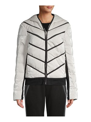 Blanc Noir Hooded Quilted Down-Filled Jacket