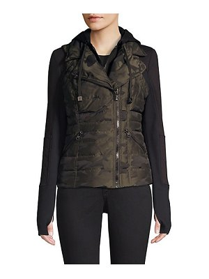 Blanc Noir three-in-one packable camo jacket