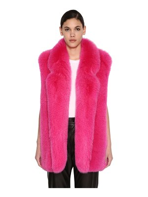 BLANCHA Long shadow fur vest