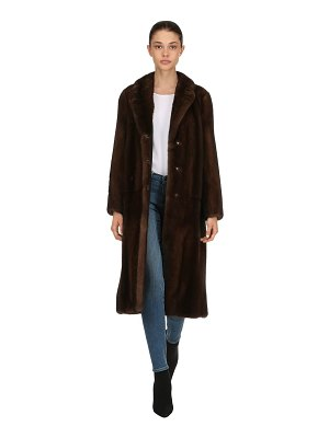 BLANCHA Mink fur long coat