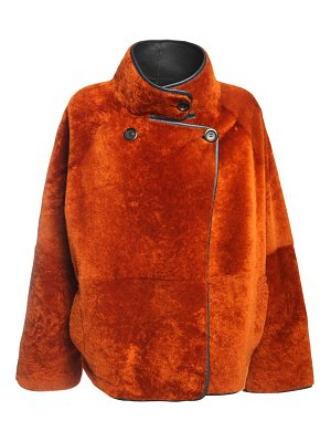 BLANCHA Reversible light merino shearling jacket