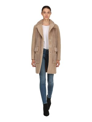 BLANCHA Shearling & mink fur coat