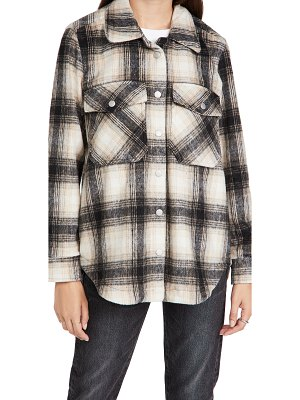 Blank Denim checked out plaid shacket