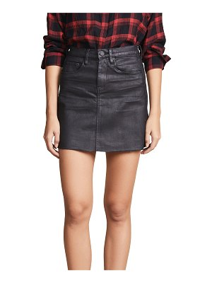 Blank Denim coated denim miniskirt