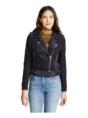 Blank Denim corduroy moto jacket
