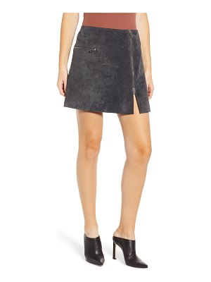 BLANK NYC a-line suede miniskirt