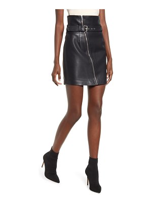 BLANK NYC belted faux leather miniskirt
