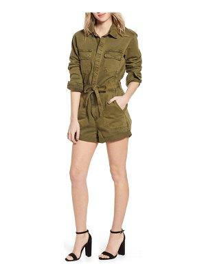 BLANK NYC belted utility romper