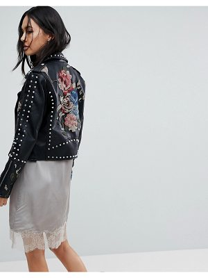BLANK NYC Blank NYC Embroidered Studded Biker festival Jacket