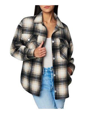 BLANK NYC Checked Out Plaid Shirt Jacket