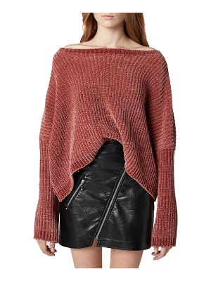 BLANK NYC chenille off the shoulder sweater