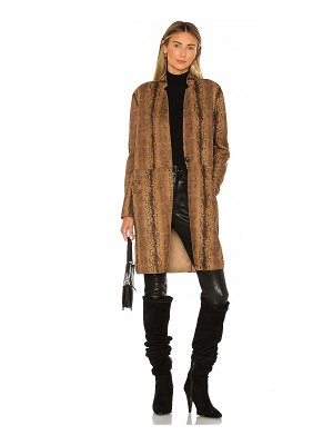 BLANK NYC copperhead faux leather coat