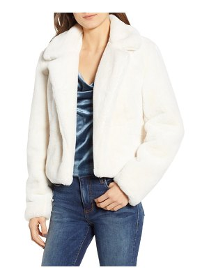 BLANK NYC cropped faux fur jacket
