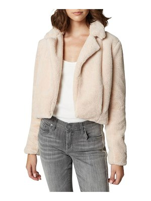 BLANK NYC Cropped Faux-Fur Jacket