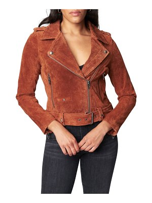 BLANK NYC Cropped Stretch Suede Moto Jacket