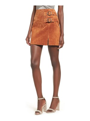 BLANK NYC double buckle suede skirt