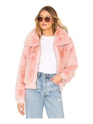 BLANK NYC Faux Fur Crop Bomber