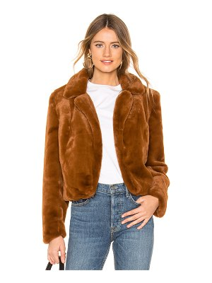 BLANK NYC Faux Fur Cropped Jacket