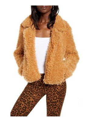 BLANK NYC faux fur teddy coat