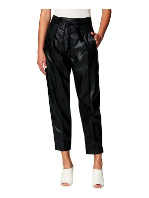 BLANK NYC Faux-Leather Belted Pants