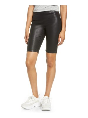 BLANK NYC faux leather biker shorts