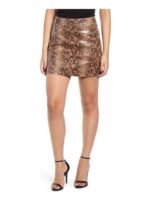 BLANK NYC faux leather miniskirt