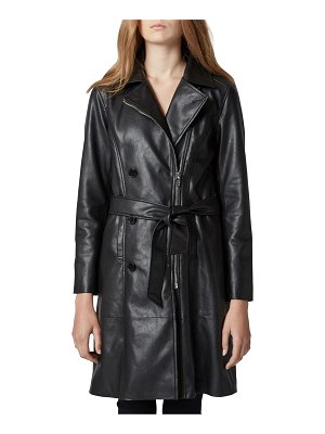 BLANK NYC faux leather trench coat