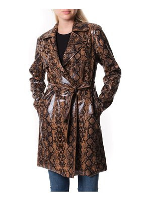 BLANK NYC faux snakeskin trench coat