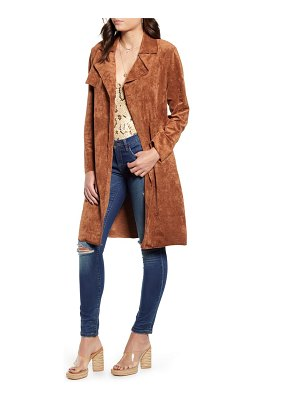 BLANK NYC faux suede trench coat