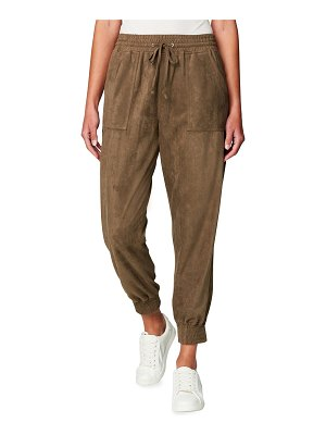 BLANK NYC Faux-Suede Utility Joggers