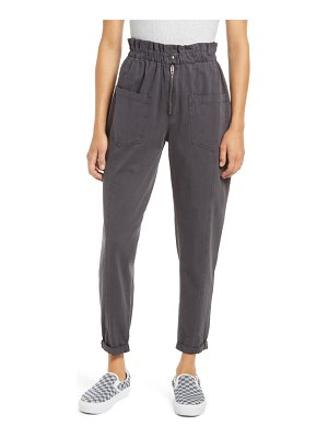BLANK NYC high waist cotton twill ankle pants