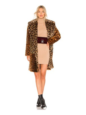 BLANK NYC Patchwork Faux Fur Coat