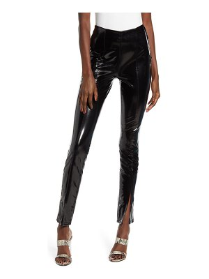 BLANK NYC patent faux leather leggings
