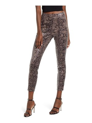 BLANK NYC printed faux leather leggings