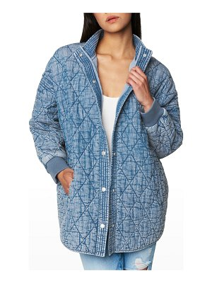 BLANK NYC Quilted Snap-Front Jacket