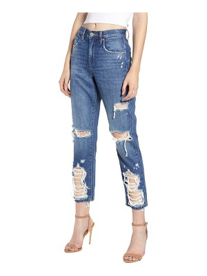 BLANK NYC ripped crop mom jeans