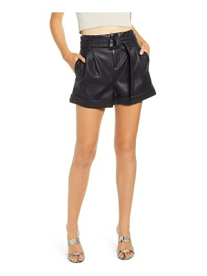 BLANK NYC sinister faux leather shorts