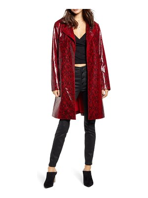 BLANK NYC snakeskin faux leather trench coat