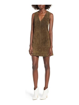 BLANK NYC suede shift dress