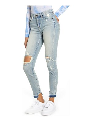BLANK NYC the bond ripped high waist skinny jeans