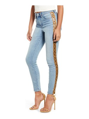 BLANK NYC the bond snake stripe skinny jeans