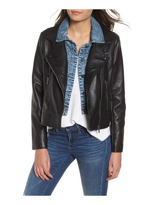 BLANK NYC the cool kid faux leather moto jacket
